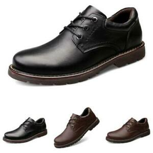 Retro Mens Business Leisure Shoes Round Toe Outdoor Walking Oxfords Lace up 47 L