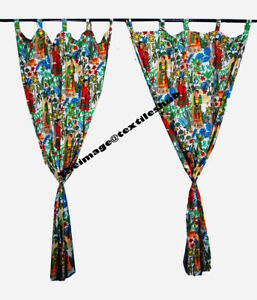 "WHITE FRIDA KHALO"" Bohemian Indian Handmade Curtains Door Decoration Curtains AU"