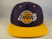 Los Angeles Lakers NBA Adidas Snapback Hat Cap Purple Gold