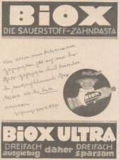 Y6156 BIOX Ultra Zahnpasta - Pubblicità d'epoca - 1925 Old advertising
