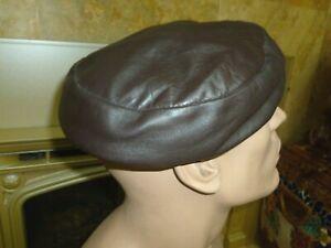 Soft Leather Cap Hat HOLT RENFREW Brown Strong & Fisher England Size Medium