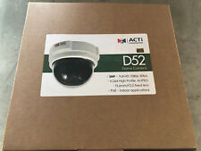 ACTi D52 3MP Indoor Dome with Fixed lens, f3.6mm/F2.0, H.264