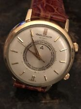 Jaeger LeCoultre Alarm World Time 10K Gold Filled Vintage Watch