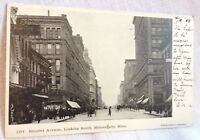 1908 Nicollet Ave Looking South Minneapolis MN Postcard Undivided Back