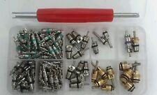 135 pcs Assortment A/C Shrader Valve Core R134 kit of 11 kinds of AC valves HVAC