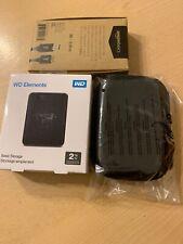 Bundle WD Elements Portable Drive. 2TB + USB3ft+ Hard Drive Case