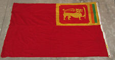 VERY DECORATIVE AUTHENTIC SHIP'S FLAG FOR CEYLON (SRI LANKA) WITH LION