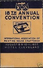 USA Poster/Cinderella Stamp:1937 18th Intl Printers Convention Cleveland (dw148)