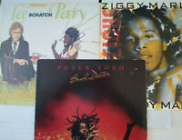 Peter Tosh Ziggy Marley Lee Scratch Perry Reggae Record Lot