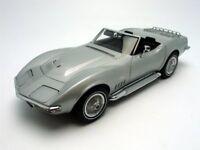 AUTOart 1/18 Chevrolet Corvette '69 (Silver) Free Shipping w/Tracking# New Japan