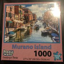 "Puzzle Mate Landscape 1000 Piece Jigsaw Puzzle -   Murano Island  27"" X 20"""