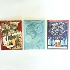 Papyrus CHRISTMAS Card Lot 3 Santa 3D Long Distance Love Bling