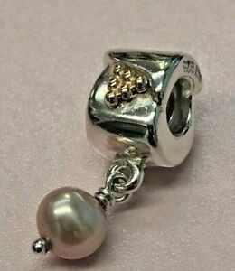PANDORA | 14K GOLD SILVER PURPLE PEARL GRAPES CHARM *NEW* 790324NP RARE RETIRED