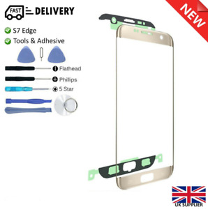 Samsung GALAXY S7 EDGE Replacement Outer Screen Glass Lens Repair Kit GOLD