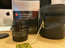 Leica M Summicron 28mm ASPH v1 Black coded - Excellent Condition - Recent CLA