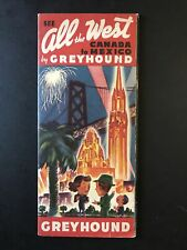 """1939 Pacific Greyhound Lines Travel Brochure """"All The West� Canada To Mexico"""