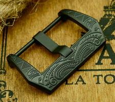 Noble cierro Buckle 24mm Black F. Staps Ammo relojes cintas vintage pam retro