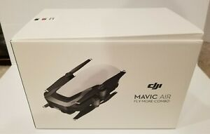 New DJI Mavic Air Arctic White Drone Fly More Combo Never Used Complete