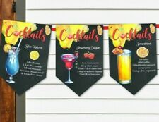 Ricette COCKTAIL BAR FESTA CELEBRAZIONE Bunting/Banner & Nastro