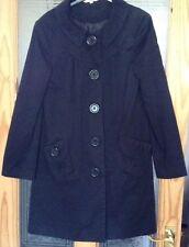 Taille 8 Manteau Noir Veste Col Haut Doublé Big Boutons Costume Bureau Design 60 s
