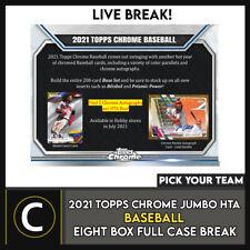 2021 TOPPS CHROME Jumbo Hta 8 коробка (полный чехол) перерыв #A1193 — выбирайте свою команду