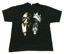 VINTAGE Tupac Biggie Shirt Rap Tee Size 2XL XXL Black Short Sleeve Hip Hop 90's