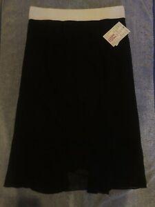 Lularoe Lola skirt Medium Black with White waist band  NWT