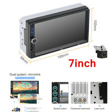 "Bluetooth Car Stereo Radio 2 DIN 7"" HD MP5 FM Player Touch Screen +Rear Camera"