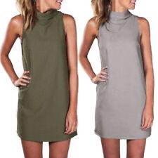 Elastane, Spandex Regular Size Sleeveless Dresses for Women