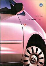 Volkswagen Sharan 1998-99 UK Market Sales Brochure S SE Sport Carat