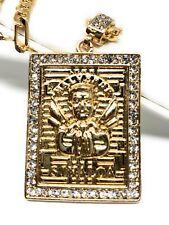 """Jesus Malverde Protección Medalla Pendant Necklace Chain 26"""" Cadena Oro Laminado"""