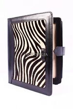 New Cover Case Stand iPAD 2 3 & 4 Black Zebra Print Luxury Real Genuine Leather