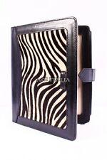 New Cover Case Stand iPAD 2 3 & 4 Black Zebra Print Luxury Real Genuine Leather