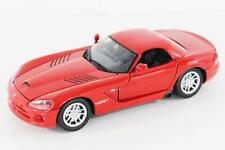 1:24 Diecast 2003 Dodge Viper SRT-10 Model Car In Red From Motormax