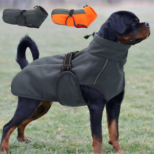 Warm Dog Winter Coat Cozy Waterproof Windproof Large Dog Vest Reflective Apparel