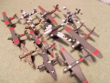 Spanish Civil War Aircraft Collection (14) Built and Painted Models, 1/100 Scale