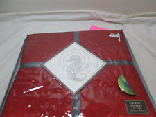 "New Waterford Linens Shandon Cal King Bedskirt 72""x84"" 15"" Drop ~ Ruby"