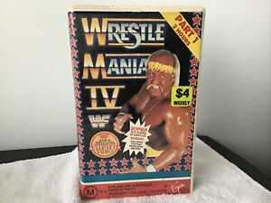 Wrestlemainia 4 wwf WWE Part 1 And 2 Wrestling VHS Rare See Our Full Range