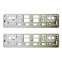 2 x SUPER CHROME NUMBER PLATE HOLDER SURROUND CAR THE BEST GOOD FOR CAR, VAN +F