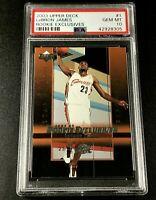 LEBRON JAMES 2003 UPPER DECK #1 ROOKIE EXCLUSIVES RC PSA 10 CAVS LAKERS NBA