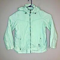 ZeroXposur Hooded Fall Winter Light Jacket Coat Lime Green Women's Size Medium M