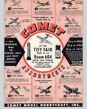 1953 PAPER AD Comet Scale Model Airplanes E-Z Build