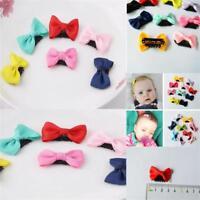 10PCs Barrettes Pour Bébés Papillon Knot Pinces à Cheveux Motif De Point