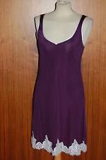 GATTINA Nachthemd kurz violett/champagne Wäschegröße 38 Seide/Viskose 81330