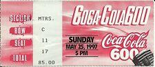 NASCAR 1997 Coca-Cola 600 Charlotte Ticket Stub - Jeff Gordon Win