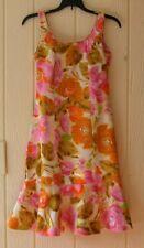 Tori Richard Honolulu 1960s Vintage Floral Dress