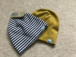 John Lewis & Partners Baby Fine Knit Beanie, Pack of 2, Multi 3-6 Months