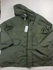 NWT French Connection Infantry Green Waterproof Rubber Coated Jacket Sz XL 55KAA