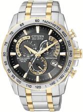 Citizen AT4004-52E Men's Watch Chronograph Two Tone Perpetual Calendar Atomic