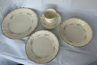 Mikasa Monticello Fine Ivory China 5 Piece Dinner Set Plates, Bowl, Saucer, Cup